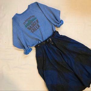 Vintage Wool Plaid 70s Skirt